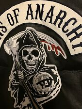 Sons Of Anarchy Motorcycle Vest Leather Authentic Gear XL Reaper SOA Hunnam