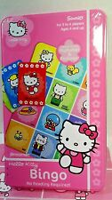 Hello Kitty Letter Bingo in Tin  Complete Ages  4  cards 4 & Hello Kitty Chips