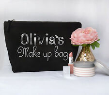 Personalised Make Up/Wash Bag ANY Name Birthday Christmas Gift Present Kids gift