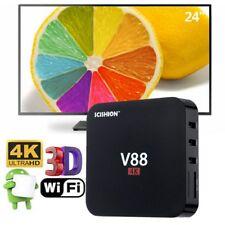 V88 4K UHD SMART TV Box Rockchip Quad Core H.265 1G + 8G WI-FI