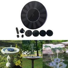 Outdoor Solar Powered Bird Bath Water Fountain Pump For Pool Garden Aquarium Kit