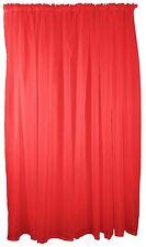 rouge voile TENTURE RIDEAU TRINGLE Poche 150x137cm 150x137cm