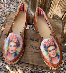 Frida Kahlo Kid's Size 3 or Women's Size 6 Authentic Closed Toe Huarache Sandals