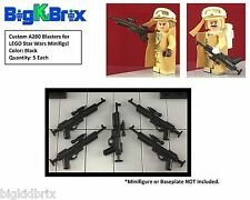x5 Each A280 Rifle Blaster for LEGO Star Wars REBEL Minifigs BLACK ABS  #2