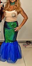 Halloween Fancy Dress Sexy Little Mermaid Costume 2 piece shells sequin 10-12