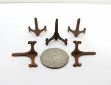 5 Of Miniature 1:12 Scale Wooden Plate Holders [Finished in walnut]