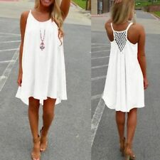 Women Summer Chiffon Beach Wear Bikini Cover Up Boho Swing Sun Dress Swimwear DS