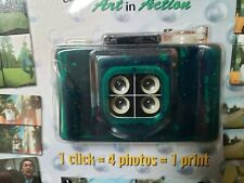 The Quad Cam 35mm Film Point & Shoot Pocket Camera Shoots 4 Photos In A Row