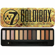 W7 Cosmetic Goldibox Eye Shadow Palette Shimmer Matte Browns Natural Tin Colours