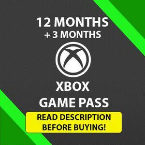Xbox Game Pass Ultimate 12 Month + 3 Month Bonus + EA ACCESS  Region free