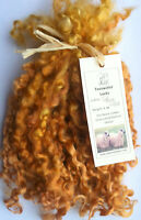 Teeswater Locks Toffee Gold for Doll Making and Spinning 1 oz (28.4g)
