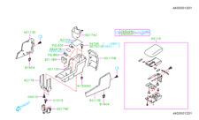 Genuine OEM Subaru Lid Assembly / Console Box  2009-2013 (92114SC010LL)