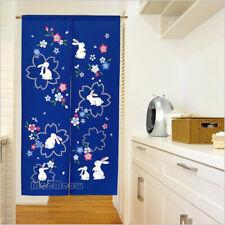 NOREN Curtain Japanese Doorway Room Door Divider Tapestry Sakura Seven Rabbit