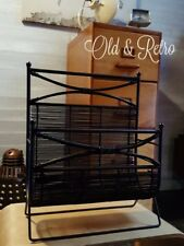 Wrought Iron And Rattan / Wicker Magazine Rack