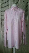 """AUSTIN REED Luxury Two Fold Pink Stripe French Double Cuff Formal Shirt 15 1/2"""""""