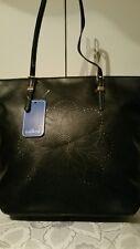 Vershe* Lovely Milleni handbag, tote, great size, Black laser cut front, NWT