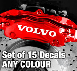 VOLVO Quality Brake Caliper Decals Stickers - ANY COLOUR