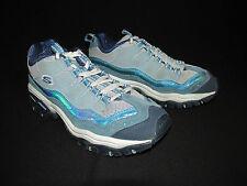 Skechers Blue Sport Trail Walking Shoes Leather Mesh Women's US 9M EU 39