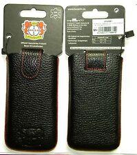 Tasche Hülle Bayer 04 Leverkusen Leder 125x63mm zB Apple iPhone 4 4s 5 5c 5s SE