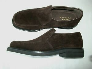 MENS HUSH PUPPIES BROWN SUEDE SLIP ON SHOES SiZE 10.5 UK BRAND NEW!!