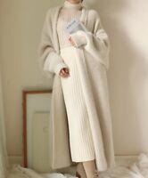 Women Coat softly Faux wool Cashmere  long Cardigan Sweater Jackets jumper parka