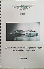 ASTON MARTIN DB9 2009 ON BOARD DIAGNOSTICS (OBD) SUMMARY DOCUMENTATION