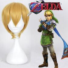 The Legend Of Zelda Link Cosplay Party Wig Short Blonde Wig + Wig Cap