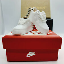 Air force 1 white pair of mini kicks sneakers keyring keychain & box