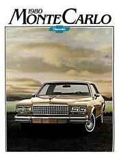 1980 Chevrolet Monte Carlo Factory Brochure Coupe/Landau Coupe 1979