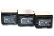 3x CAMCORDER Akku BATTERIE mit CHIP 4450mAh für CANON Legria HF R806, R86, R88
