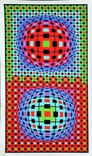 """Victor Vasarely - """"Composition Ionau""""   - Signed Serigraph"""