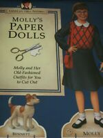 American Girl *MOLLY & BENNETT  PAPER DOLL COLLECTION SET* NEW-Uncut~