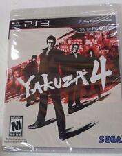 Yakuza 4 (Sony PlayStation 3, 2011 RE-PRINT) Brand New