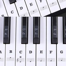 Piano Keyboard Music Note Stickers Learn To Play Clear Keynotes 88/61/54/49 Keys