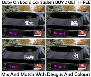 Baby on Board Windscreen Body Panel Bumper Car Sign Transfer Stickers