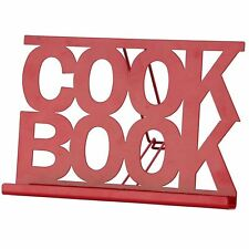 Cook book stand rouge émail Cuisine Recette Cooking Affichage reste Stand Holder