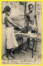 cpa Tres RARE INDE INDIA PONDICHERY Marchands de BONBONS Seller of Candy