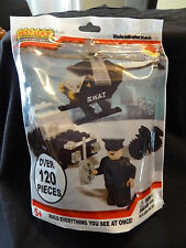 New  Best-Lock Construction Toys S.W.A.T. Helicopter & Car Over 120 Pcs Bagged