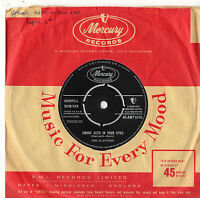 """The Platters - Smoke Gets In Your Eyes 7"""" Single 1958 AMT1016"""