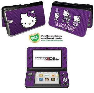 Hello Kitty Vinyl Skin Sticker for Nintendo 3DS XL - Purple