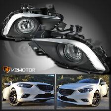 2014-2016 Mazda 6 Sport Sedan 4-Door Clear Bumper Driving Fog Lights+Switch