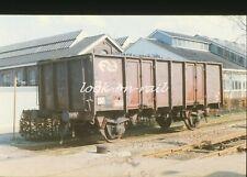N1239 - Dia slide 35mm original Eisenbahn Holland, NS offene wagen, '80s