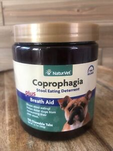 NaturVet COPROPHAGIA DETERRENT - Stops Dogs from Eating Poop 130 Tab Exp 01/24