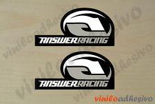 PEGATINA STICKER VINILO MOTO Answer racing ref 2 autocollant aufkleber adesivi