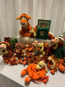 Lot of 15+ Disney Tigger Small Plush Toys Winnie The Pooh Clock Keychain Picture