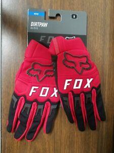 Fox Dirtpaw Flame Red Off Road Gloves S M L XL 2XL 3XL  25796-122