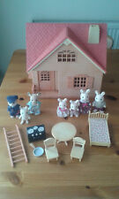 Sylvanian Families Copper Beech Country Cottage Rabbit Family Figures Furniture