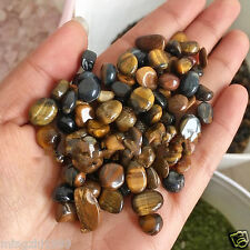 "50G Bulk Tiger Eye Tumbled Stones Small 1/4"" Natural Crystals3"