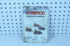 Vintage 1979 Scorpion Snowmobile Operators Manual Lil' Whip, Whip Tk, Sting,Whip