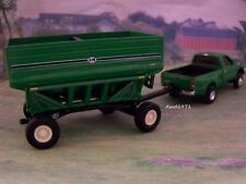 F-350 FORD SUPER DUTY TRUCK +  FARM J & M GRAIN CART TRAILER 1/64 DIORAMA MODEL